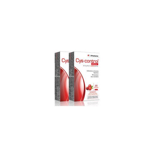 Cys-control Médical Lot de 2x20 gélules à prix discount| Arkopharma