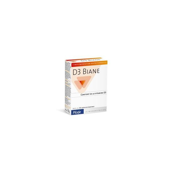 D3 Biane 30 capsules moins cher| Pileje