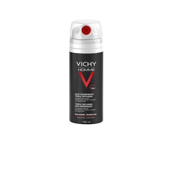 Homme Déodorant Anti-Transpirant 72 heures Triple Diffusion 150ml à prix discount| Vichy