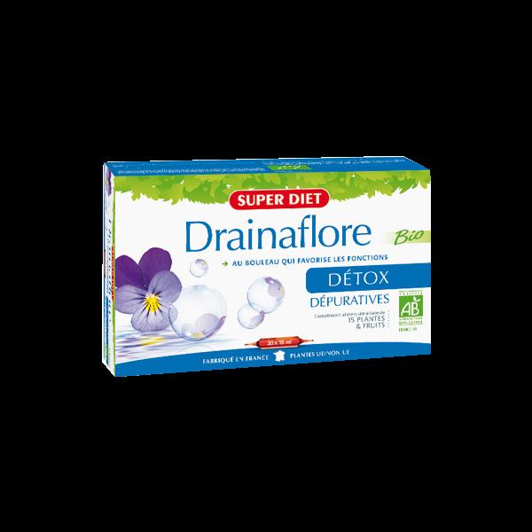 Drainaflore Bio 20 ampoules à prix discount| Super Diet