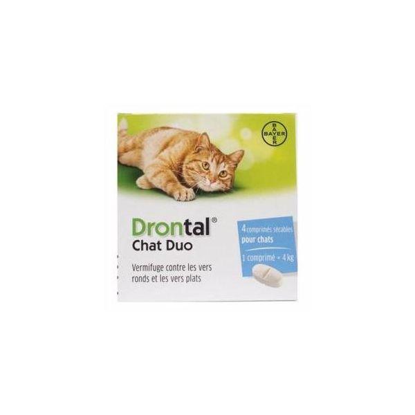 al Duo 4 comprimés vermifuge chat  moins cher| Bayer Véto