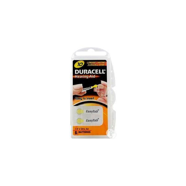 Achetez Duracell Piles Auditives N°10 x6  moins cher