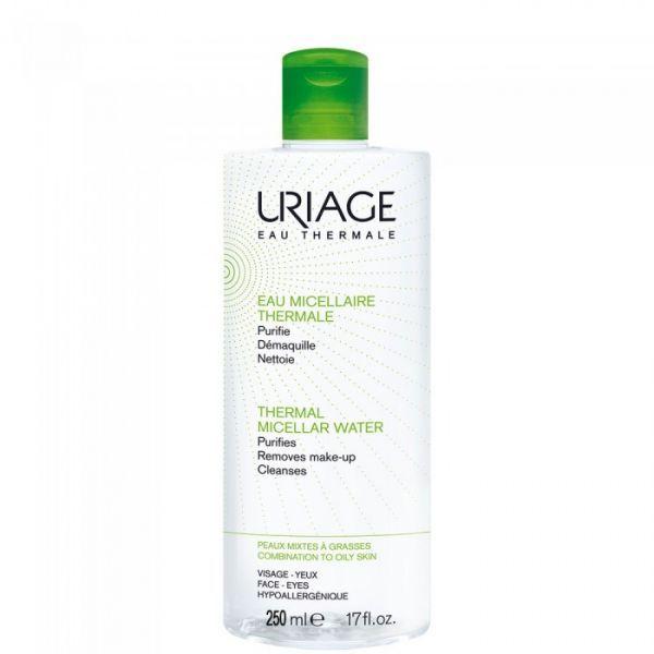 Eau Micellaire Thermale Peaux Mixtes à Grasses 500ml moins cher| Uriage