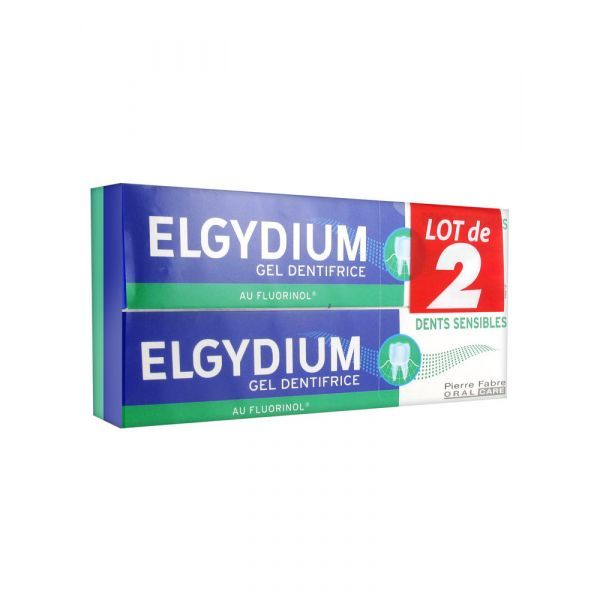 Dentifrice Dents Sensibles Gel 2X75ml à prix bas| Elgydium