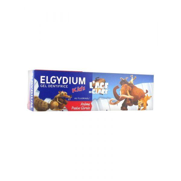 Elgydium Fraise givrée Dentifrice kids 50ml l'âge de glace