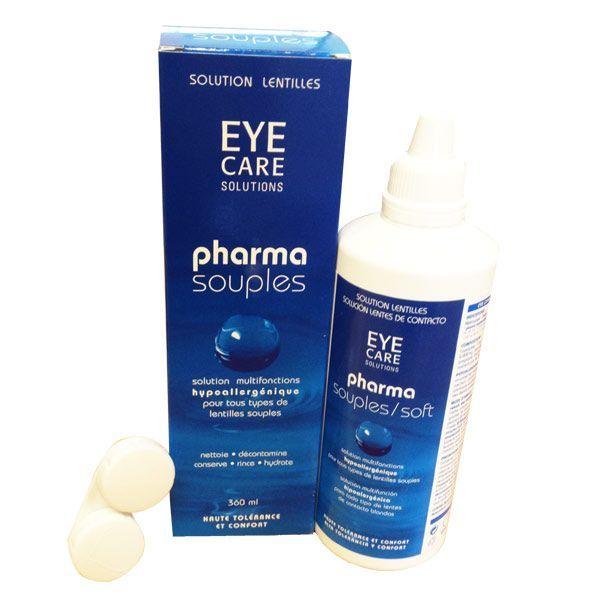 Pharma souples Solution lentilles 360ml au meilleur prix  Eye care