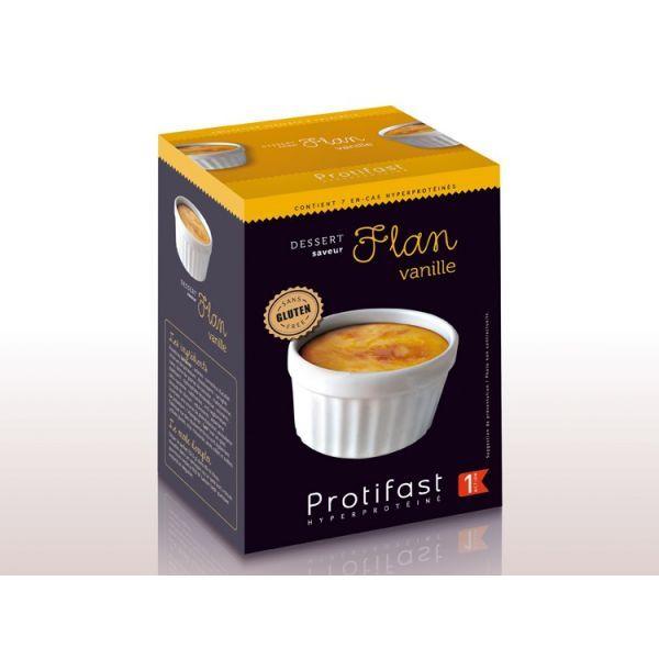 Flan Vanille 7 Sachets à prix discount  Protifast