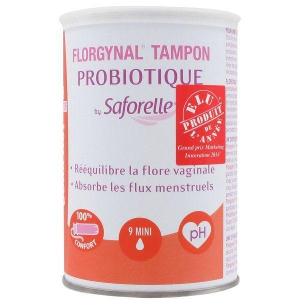 Florgynal Tampon Probiotique Compact avec applicateur 9 Mini au meilleur prix| Saforelle