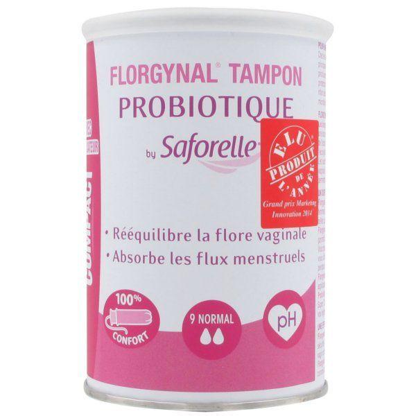 Florgynal Tampon Probiotique Compact avec applicateur 9 Normal moins cher| Saforelle