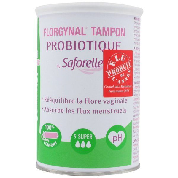 Florgynal Tampon Probiotique Compact avec applicateur 9 Super à prix bas| Saforelle