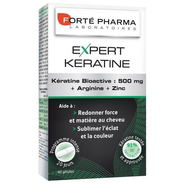 Expert Kératine 40 gélules au meilleur prix| Forté Pharma