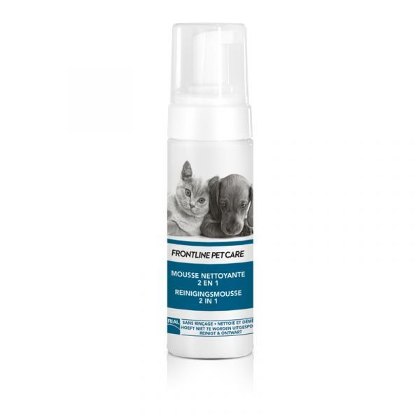 Petcare Mousse Nettoyante sans Rinçage 150ml  au meilleur prix| Frontline