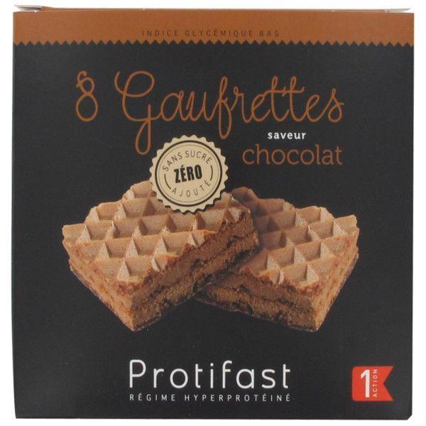 Gaufrettes Chocolat  4 sachets de 2 au meilleur prix| Protifast