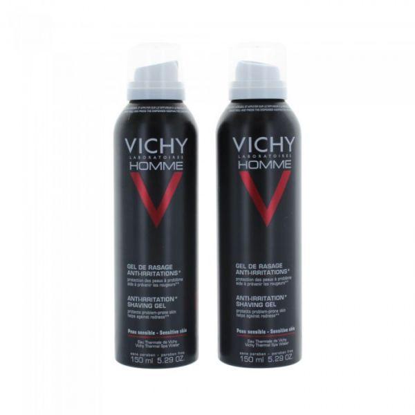 Homme Gel De Rasage Anti-Irritations 2X150ml moins cher  Vichy