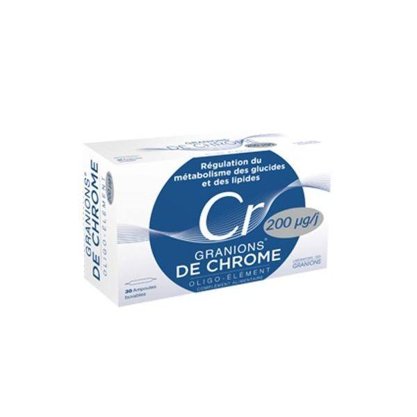 Granions de Chrome Ampoules 30X2ml moins cher| Laboratoire des Granions