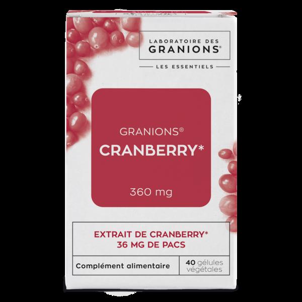 Granions de Cranberry 40 gélules de Laboratoire des Granions