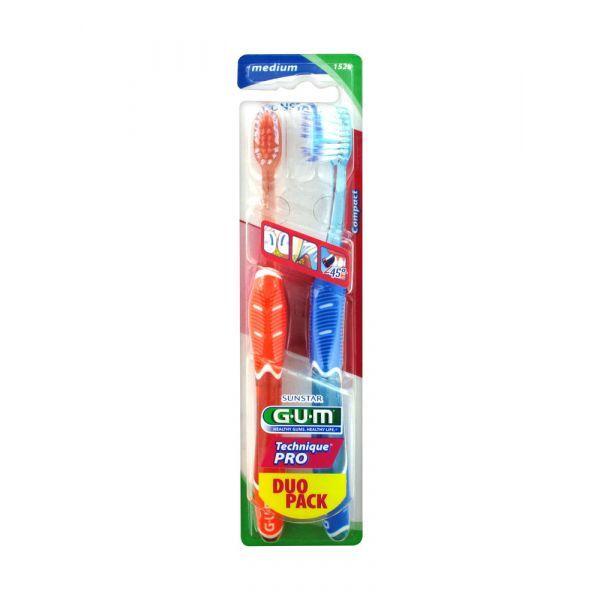 Achetez Gum Brosse à Dents Technique Pro Medium Duo Pack moins cher