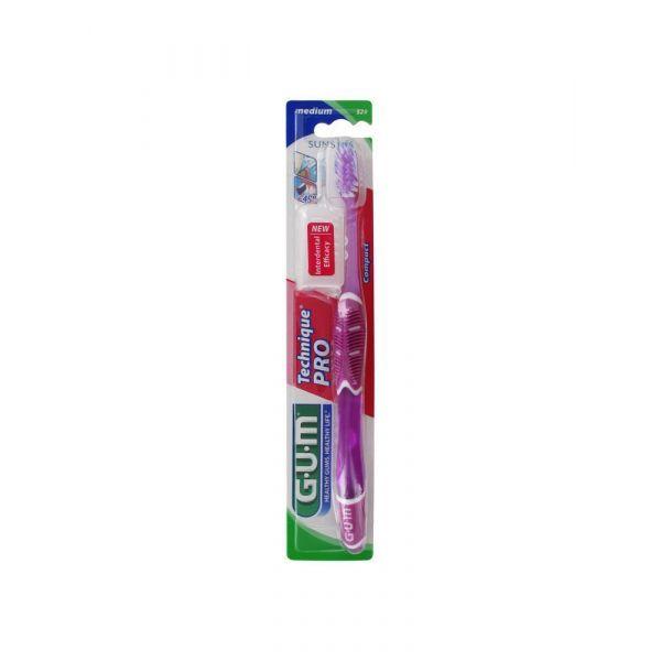 Achetez Gum Brosse à Dent Technique Pro Médium Rose moins cher