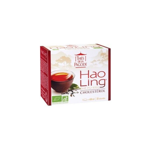 Thé Hao Ling Cholesterol bio 30 sachets à prix bas| Thés de la Pagode