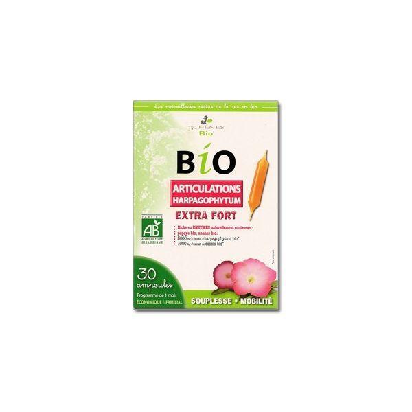 Bio Articulations Harpagophytum extra fort 30 ampoules à prix discount  Les 3 Chênes