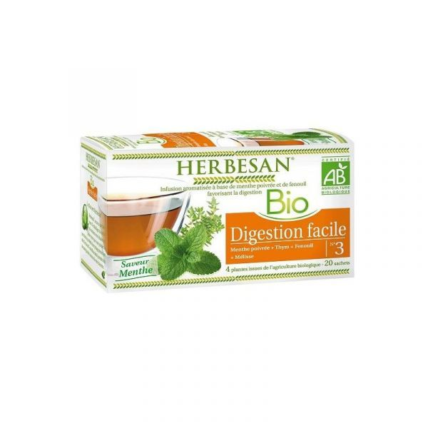 Bio Infusion Digestion Facile 20 Sachets moins cher| Herbesan
