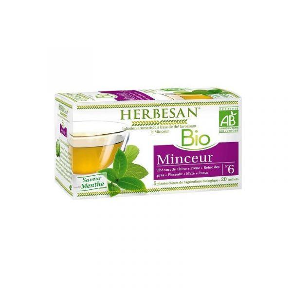 Bio Infusion Minceur 20 Sachets moins cher  Herbesan