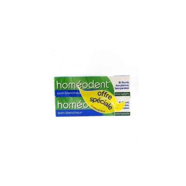 Achetez Homéodent Dentifrice Soin Blancheur 2X75ml moins cher