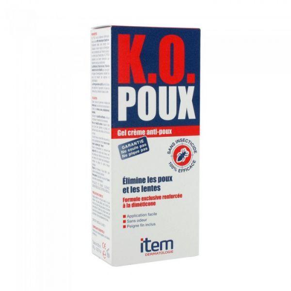 KO Poux Gel Crème 100ml moins cher| Item