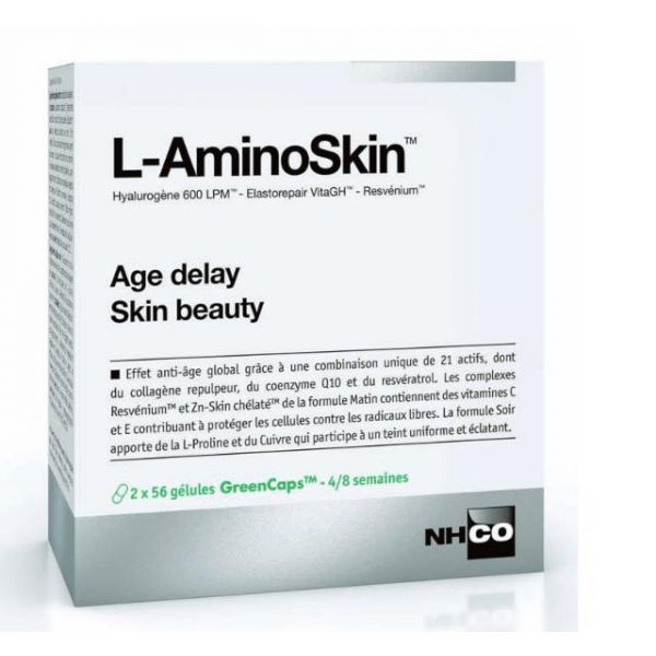 L-AminoSkin  2x56 gélules - Nouvelle formule enrichie  à prix bas| NH-CO