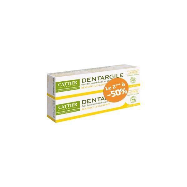 Dentifrice au citron Dentargile lot de 2