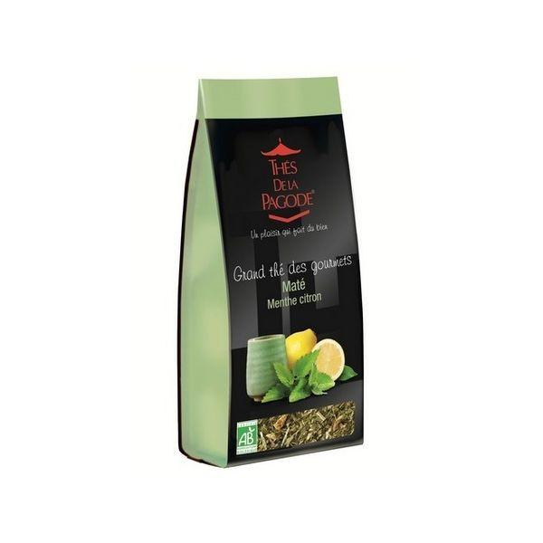 Grand thé des gourmets Maté Menthe citron bio 110gr à prix discount| Thés de la Pagode