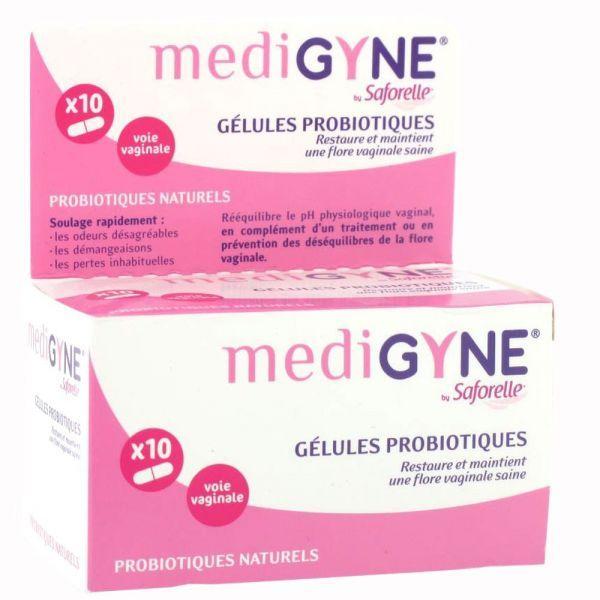Médigyne Gélules Probiotiques 10 à prix discount| Saforelle