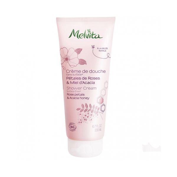 Crème de Douche Roses Miel Acacia Melvita