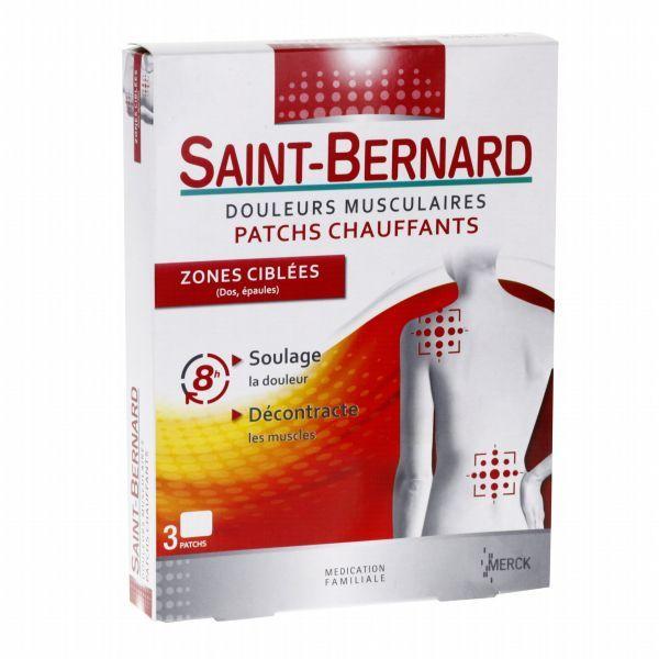 Patchs Chauffants Zones Ciblées X3 au meilleur prix  Saint Bernard