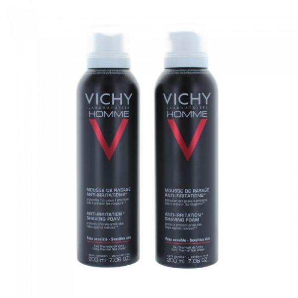 Homme Mousse à Raser Anti-Irritations 2x200ml au meilleur prix| Vichy