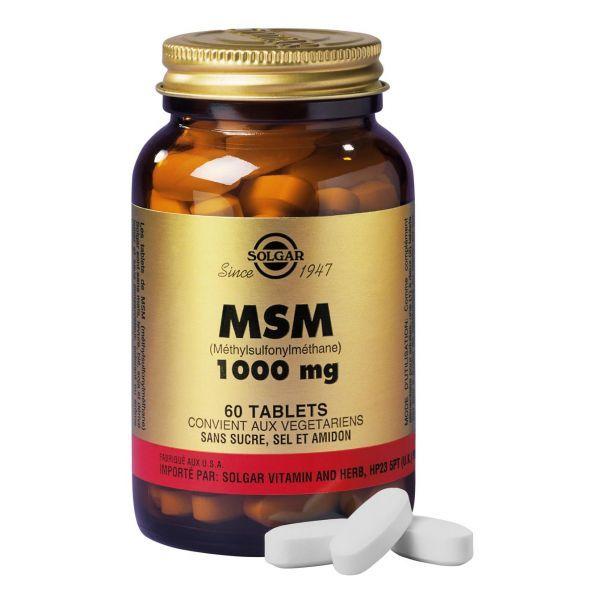 MSM 60 comprimés à prix discount| Solgar