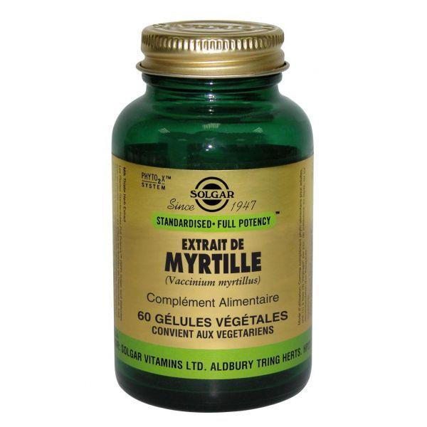 Extrait de Myrtille 60 comprimés à prix discount| Solgar