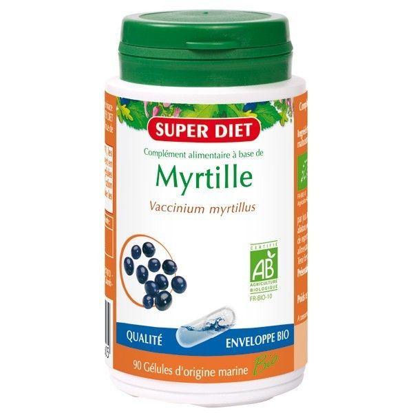 Myrtille Bio 90 gélules à prix discount  Super Diet