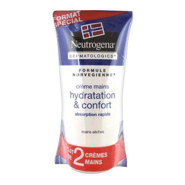 Crème main hydratation et confort 2x75ml  à prix bas  Neutrogena
