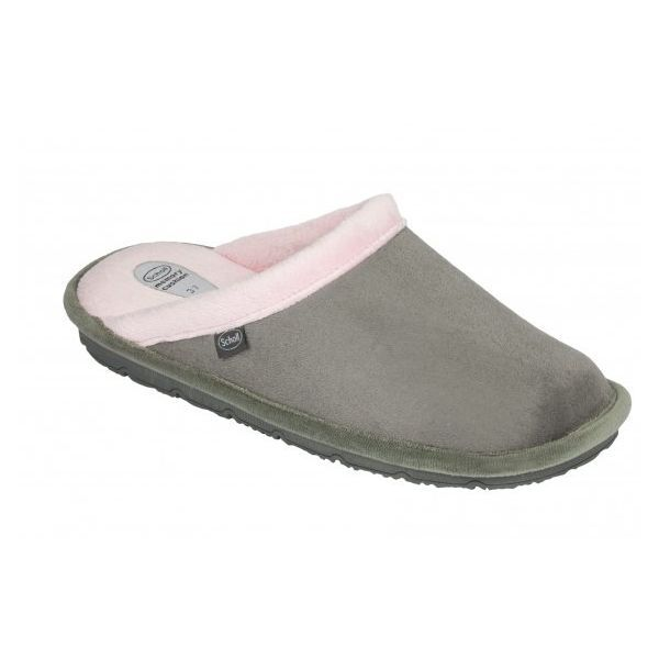Scholl chaussons mules New Brienne gris rose