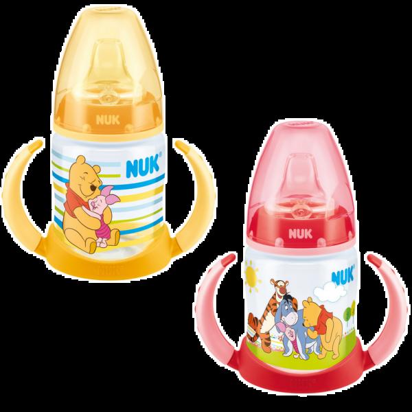 Biberon d'apprentissage 6-18 mois First Choice 150 ml Disney Winnie moins cher| Nuk