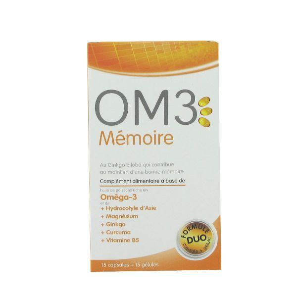 Mémoire 15 capsules +15 gélules moins cher  OM3