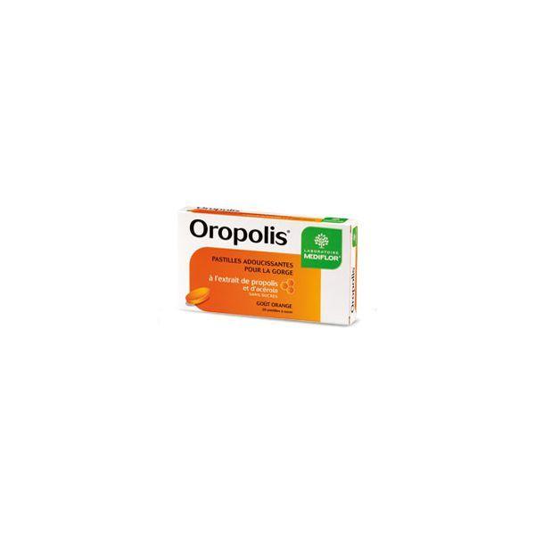 Oropolis -C Pastilles adoucissantes pour la gorge Propolis Goût orange  20 pastilles à prix discount| Médiflor