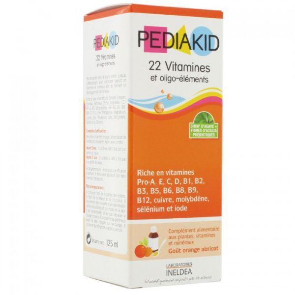 22 Vitamines et Oligo-éléments 125ml moins cher| Pediakid