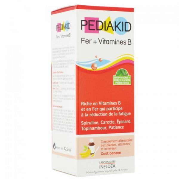 Fer + Vitamines B flacon 125ml (goût banane) à prix bas| Pediakid