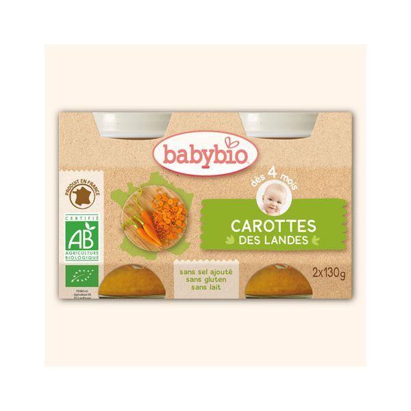 Achetez au meilleur prix les petitis pot Bio aux Carottes des Landes de Babybio