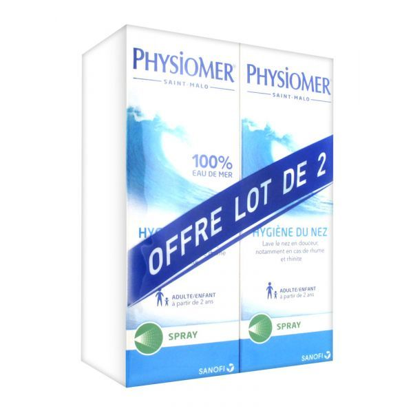 Hygiène du Nez Spray Lot de 2x135ml moins cher| Physiomer