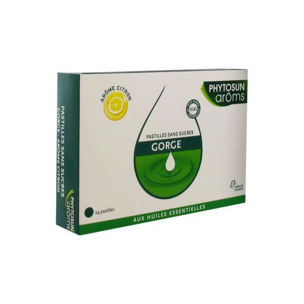 Aroms Gorges Pastilles Sans Sucre Citron X24 au meilleur prix| Phytosun