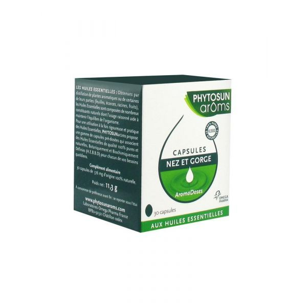 Aromadoses Nez et Gorge 30 capsules moins cher| Phytosun