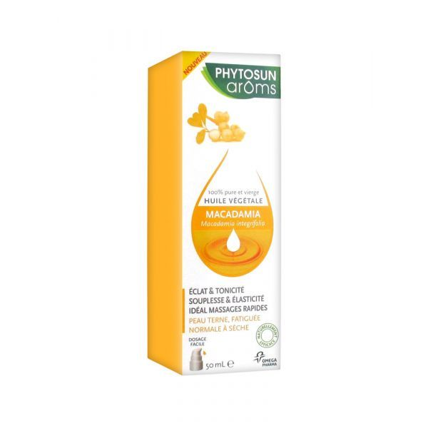 Huile végétale Macadamia 50ml à prix discount| Phytosun
